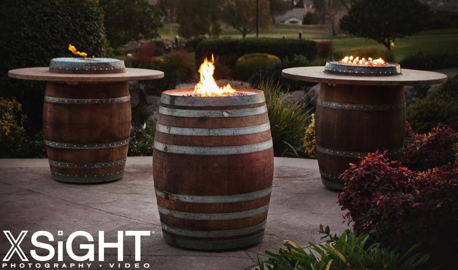 Wine Barrel Firepits Lincoln Vin De Flame Authentic