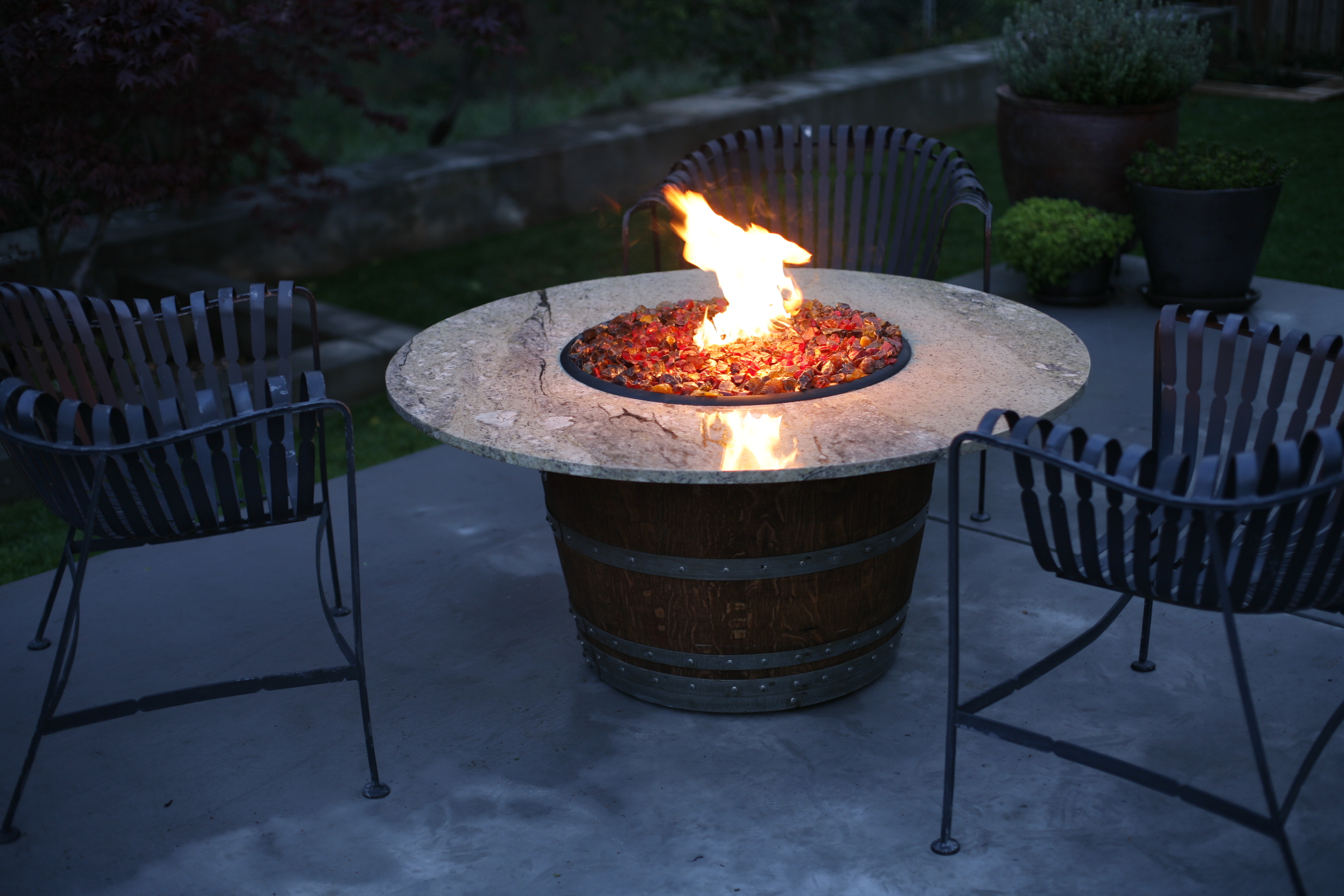 Wine Barrel Fire Pits Sonoma County Fire Pits Shop