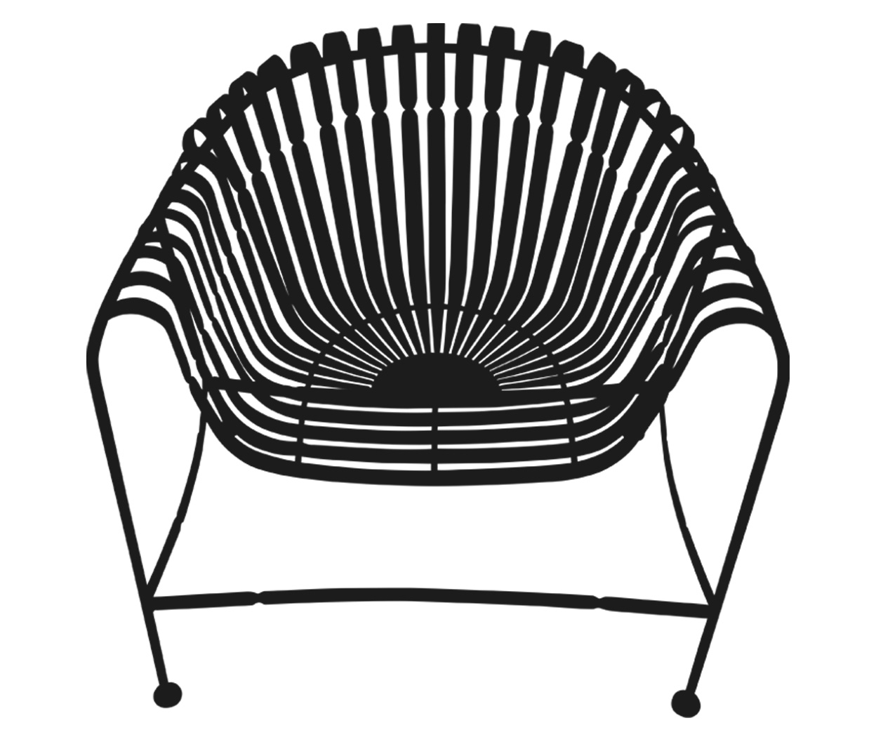 Sunburst Chair-Black