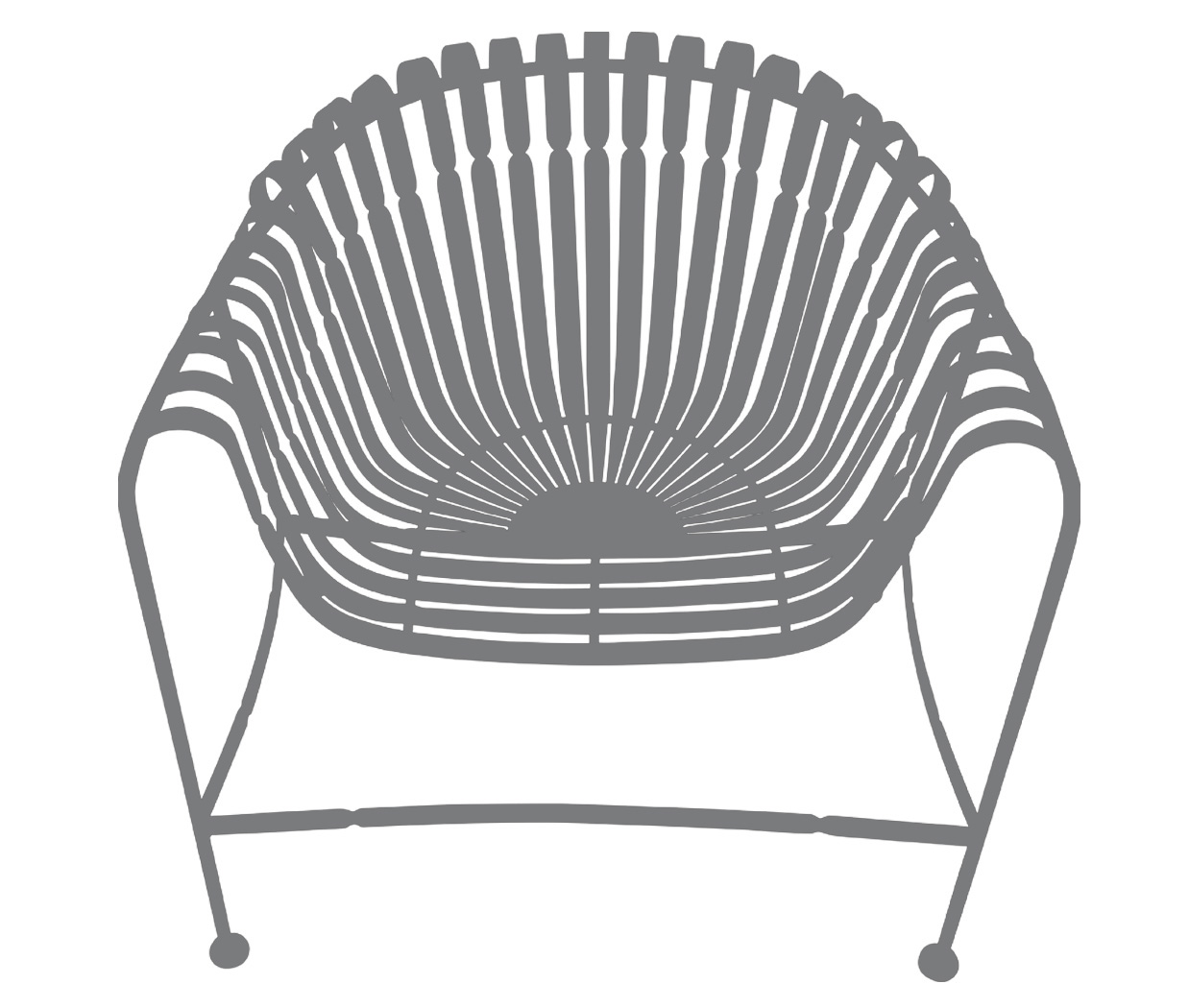 Sunburst Chair-Grey