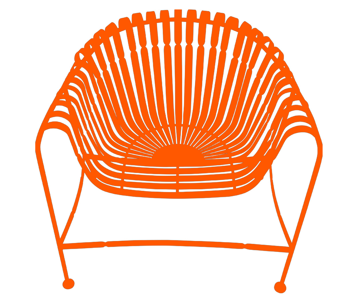 Sunburst Chair-Orange